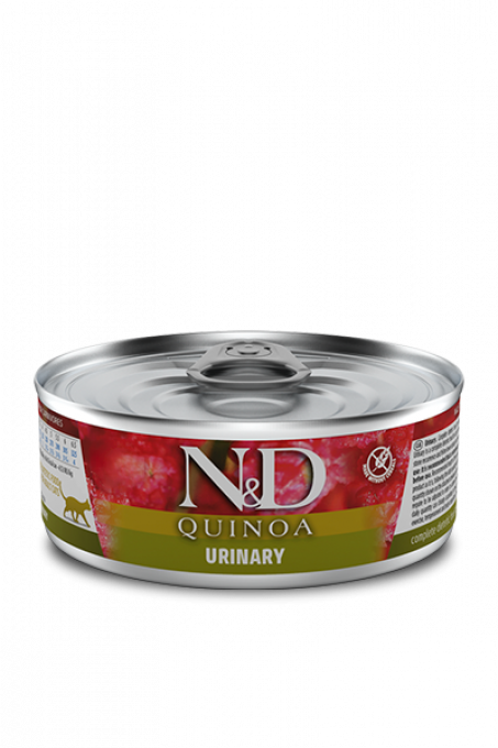Boîte-Pâtée-N&D-Quinoa-urinary-quinoa-canard-chat-sans-céréales-farminapetfood-chatchienprestige